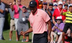 TV: Tiger avslutade med en eagle