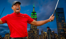 Empire State Building hyllade Tiger Woods