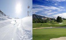 Spela golf och åka skidor på samma dag