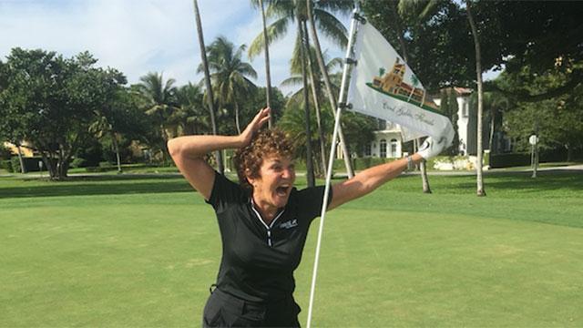 Hon slog två hole-in-one – på samma runda!