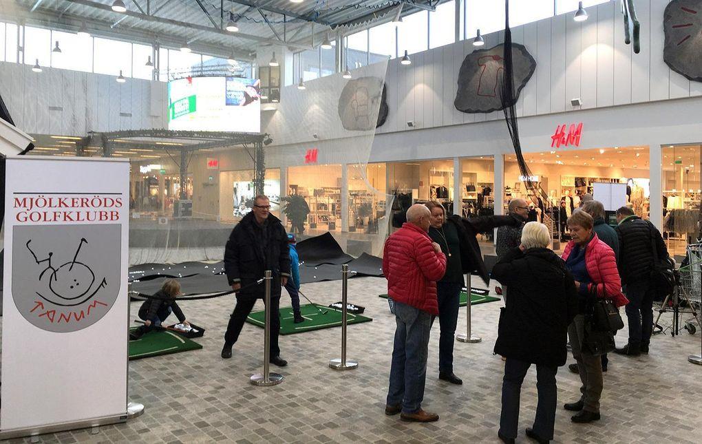 Golfklubbens shoppingrunda – i gallerian