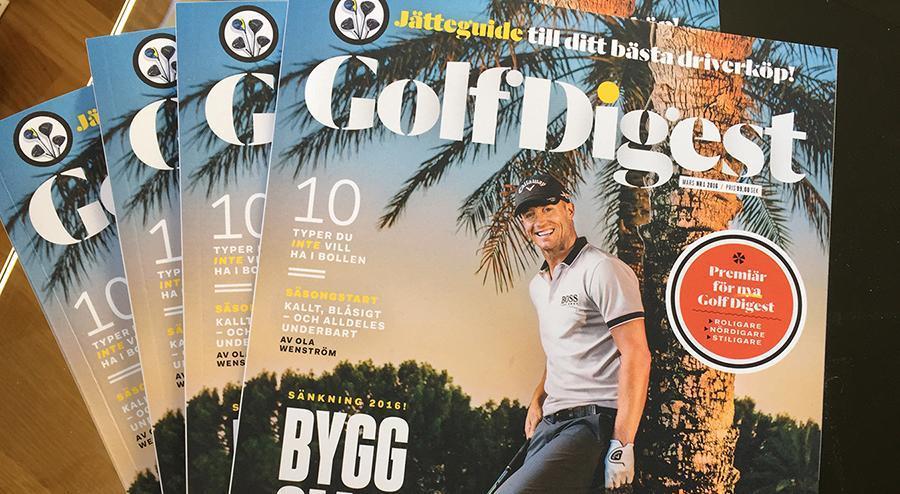 Grattis – du vann Golf Digest–prenumerationen!