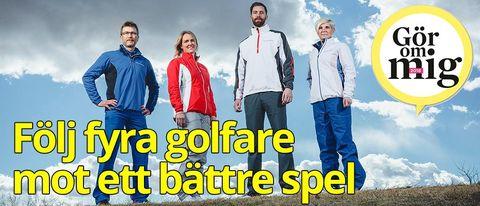Följ fyra golfare mot ett bättre spel