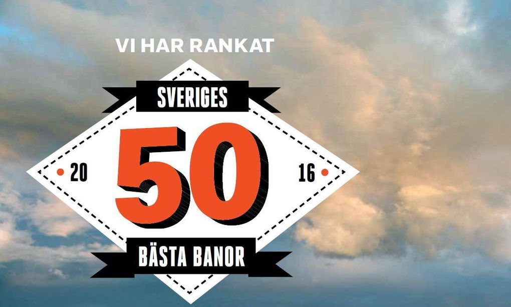Här är Sveriges 50 bästa banor
