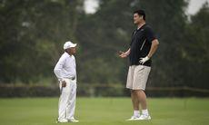 Se de underbara bilderna på Gary Player och Yao Ming