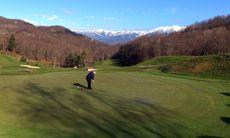 Spela golf i Pyrenéerna