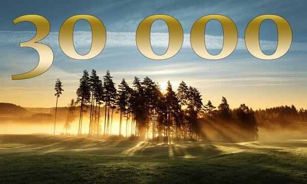 30000 följare på Facebook – vinn tre dussin golfbollar!