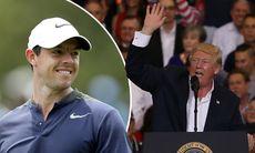 Rory McIlroy rehab-spelade med Donald Trump