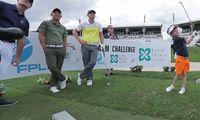 Enarmade sexåringen utmanade PGA Tour-proffsen